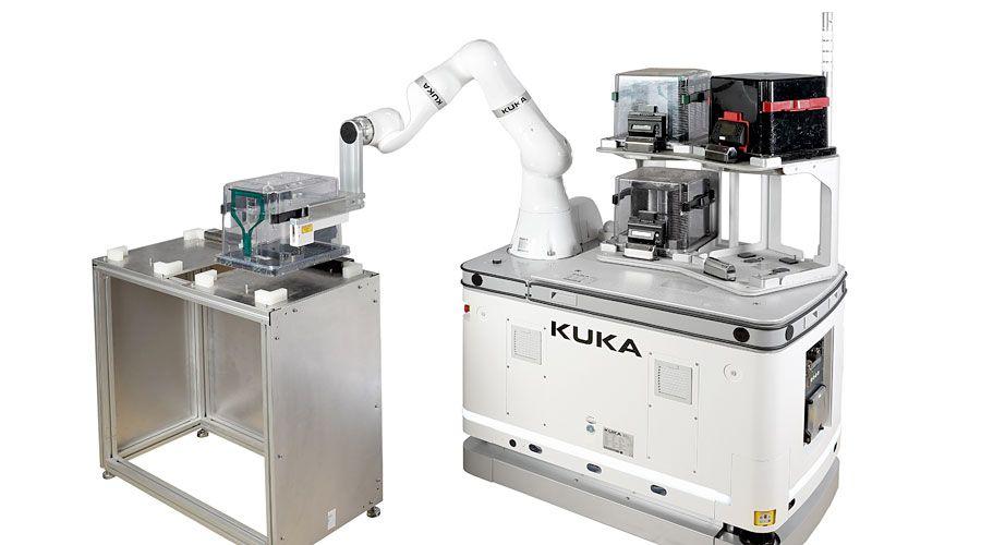 Automatizovaná výroba polovodičů s mobilní robotickou aplikací KUKA