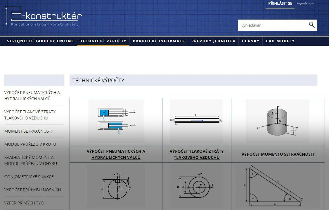 Profesní web E-konstrukter.cz se stal součástí rodiny webů Strojirenstvi.cz