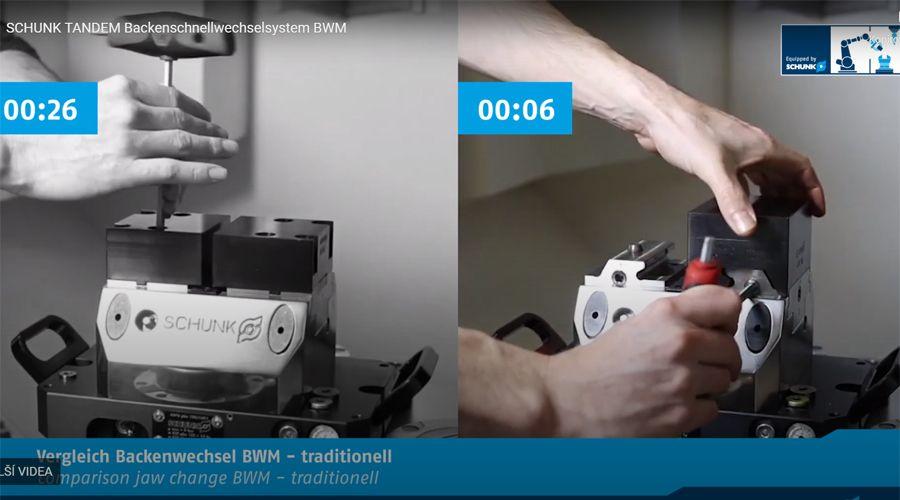 Video: Posuďte sami o kolik pohodlnější je rychlovýměnný systém čelistí SCHUNK